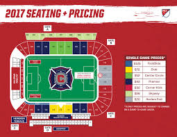 Map Pricing Toyota Park Seating Map Chicago Fire