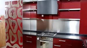 kitchen colour designs ideas chrome metal refrigerator pattern