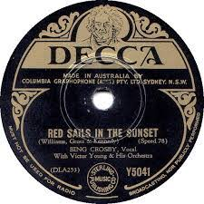 ultratop be   Bing Crosby   Red Sails In The Sunset Cover Bing Crosby   Red Sails In The Sunset