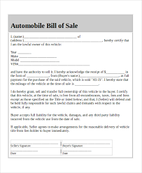 blank sample bill of sales 9 free sample example format download