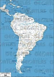 South America Map And Capitals by Geoatlas Continental Maps America South Map City Illustrator