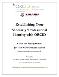 Empowering Graduate Student Research  Linking ORCID Identifiers to