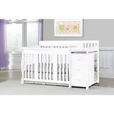 White Convertable Crib by Storkcraft Portofino 4 In 1 Convertible Crib N Changer Combo White