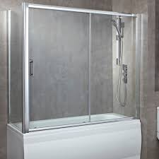 lakes bathrooms classic 1500mm over bath double sliding door bath show