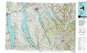 New York State Map by New York Topo Maps Topographic Maps 1 100 000