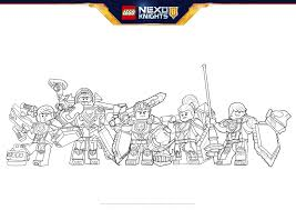 nexo knights heroes formation 03 colouring page activities