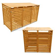 Free Wooden Garbage Box Plans by Wheelie Bin Storage Storage Supplies Ebay