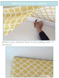 great directions on how to hang a valance including the length to