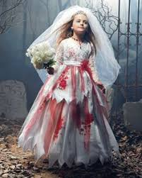 Wedding Dress Halloween Costume Daughter Zombie Bride Halloween