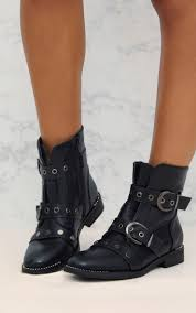real biker boots women u0027s boots shoes online prettylittlething usa