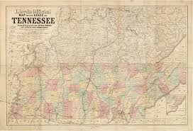 State Of Tennessee Map by Important Civil War Era Maps Of Tennessee And Georgia With Unique