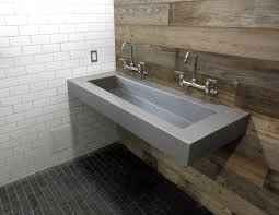 Bathroom Sink Wall Faucets by Custom Floating Wall Mount Concrete Sink By Trueform Concrete