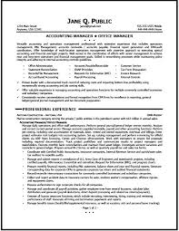 Sample Test Manager Resume by Accounting Manager Resume Sample The Resume Clinic