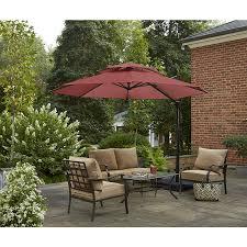 Offset Patio Umbrella by Shop Garden Treasures Round Red Offset Patio Umbrella With Crank