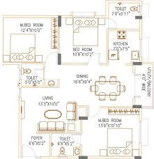 1241 sq ft 2 bhk 2t apartment for sale in vkc chourasia pride