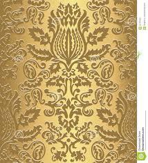gold damask wallpaper pattern stock vector image 62723422
