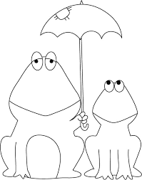 tadpole coloring page frog and baby frog sharing shielder coloring pages download