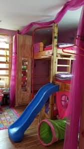 bedrooms for girls with bunk beds 25 best kids bed with slide ideas on pinterest