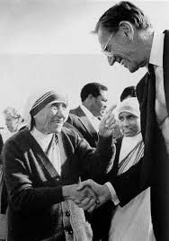 Mother Teresa with Charles Keating.