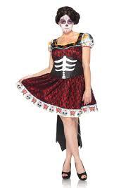 black 2 pc dia de los muertos darling costume amiclubwear