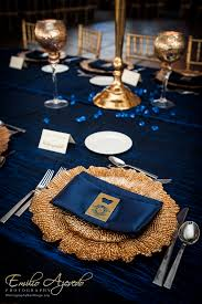 Black Blue And Silver Table Settings Weddings Events By Gisele