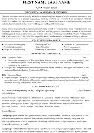 Resume Samples For Experienced Mechanical Engineers by Top Aerospace Resume Templates U0026 Samples