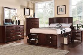 Maple Wood Bedroom Furniture Bedroom Contemporary Dark Varnished Maple Wood Bed Frame Mixed