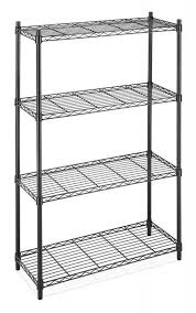 Home Depot Plastic Shelving by Pretty Shelves Home Depot On Storage Rack 4 Tier Organizer Kitchen