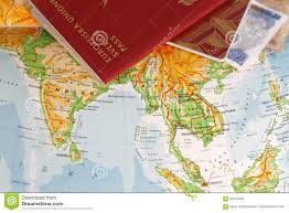 Map Of Asia by Passport And On A Map Of Asia Including India Thailand Vietnam