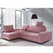 Pink Sofa Bed by Astrid Modern Fabric Corner Sofa Bed In Pink With Storage