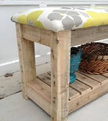 Diy Reclaimed Wood Storage Bench by Diy Reclaimed Wood Pallet Bench Mudroom Bench 99 Pallets