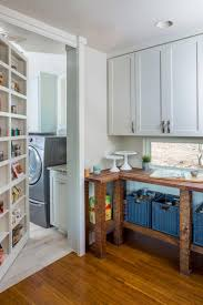 Kitchen Pantry Shelving Ideas by Kitchen Pantry Shelving With Wood Rack And Wood Cabinets Plus