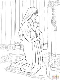 hannah prays for a son coloring page free printable coloring pages