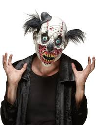 latex zombie clown mask for adults vegaoo
