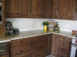 dark stained knotty alder with granite venecian gold granite