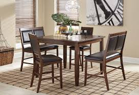 meredy 5 piece counter height dining set casual dining sets
