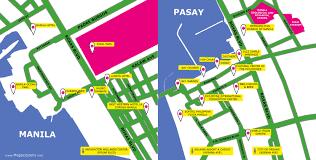 Metro Manila Map by Metro Manila Roxas Boulevard Manila Pasay