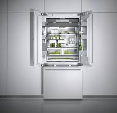 refrigerator in integrated fully paneled appliance with white
