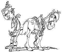 lucky luke coloring pages wecoloringpage