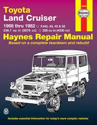 toyota land cruiser series fj40 fj43 fj45 u0026 fj55 68 82 haynes