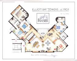 floor plan of frasier u0027s apartment at the elliot bay towers