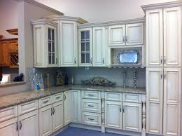 cream range oven in alcove in cream kitchen with heart shaped