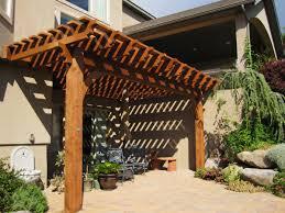 Timber Frame Pergola by Attached 14 U0027 X 20 U0027 Timber Frame Pergola Kit For Shade Western