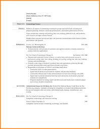 Cosmetologist Resume Objective 8 Cosmetology Resumes Reporter Resume