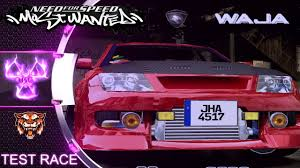 proton waja nfs most wanted 2005 mod test race youtube