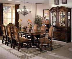 Dining Room Sets Houston Tx by Crown Mark Neo Renaissance Double Pedestal Dining Table And Chairs