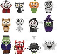 halloween characters clipart cartoon halloween characters set stock vector art 153080369 istock