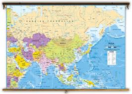 Map Of Asia by Asia Political Classroom Map From Academia Maps