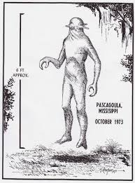 drawing of a pascagoula alien image source credit here i