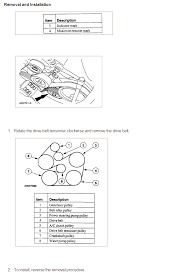 diagram on how to replace a 2000 ford taurus serpentine belt